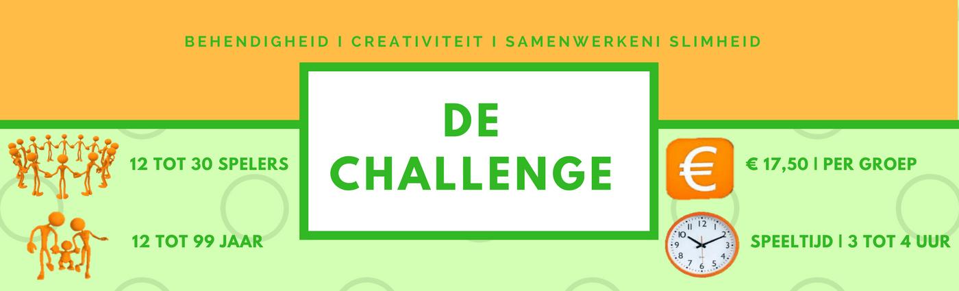 Bekend Doe en Denk spel de Challenge - 10 groepsspellen in één en heel  @WU74