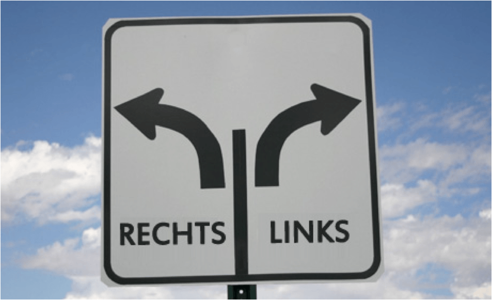links en rechts