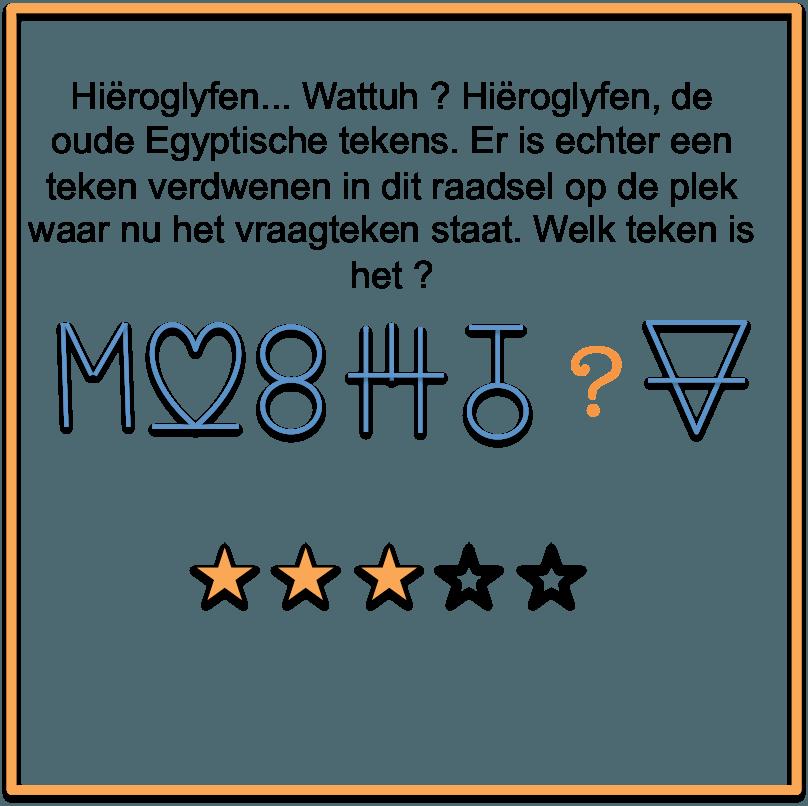 Raadsels Hieroglyfen
