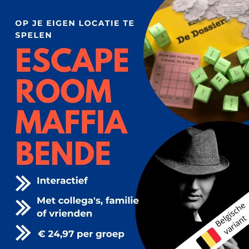 Escaperoom Belgie Maffiabende