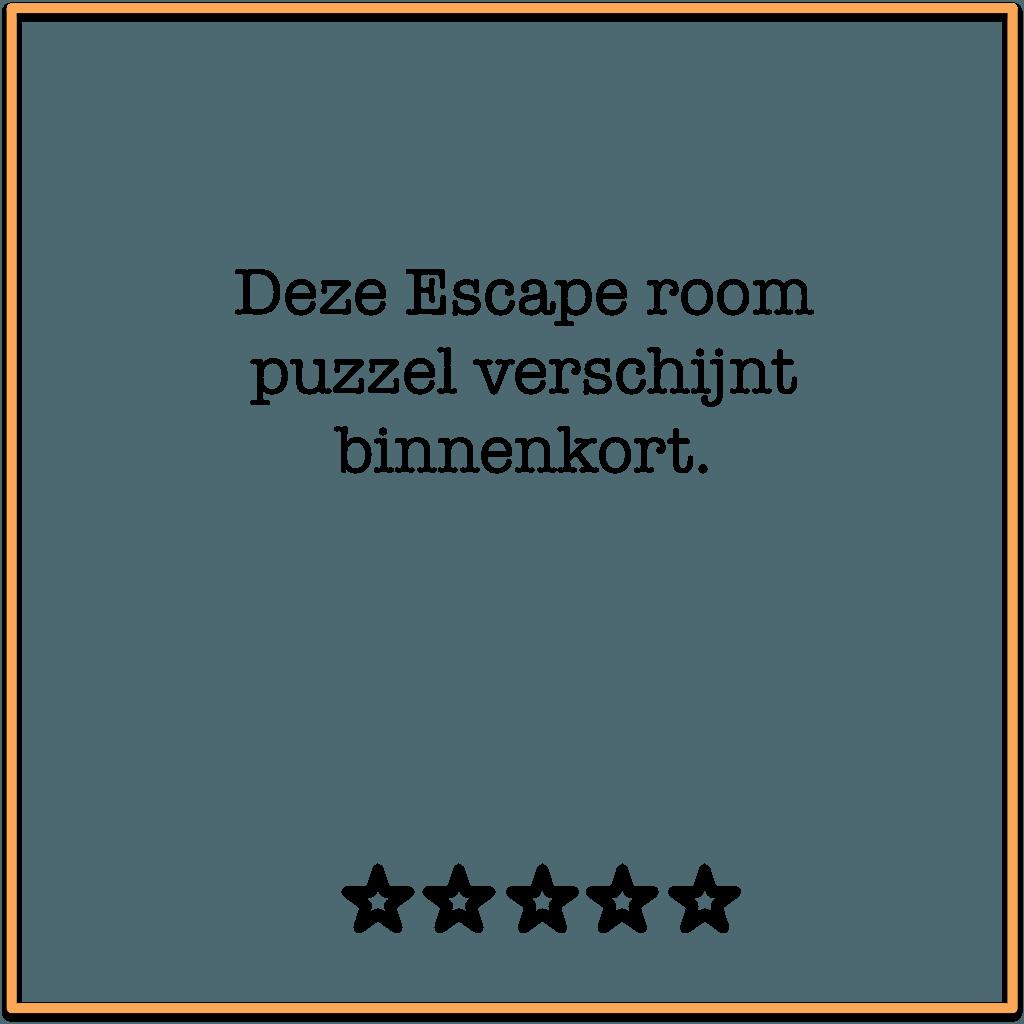 escape room puzzel binnenkort