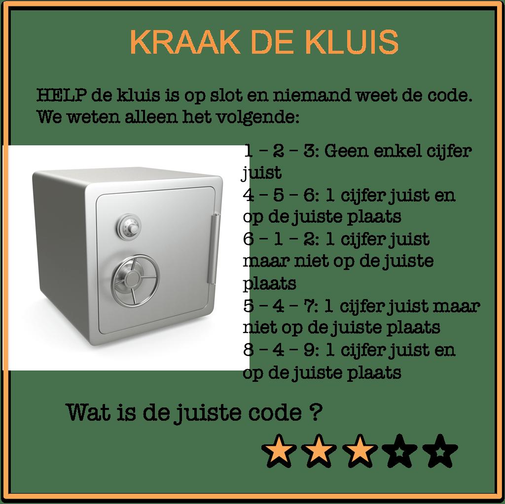 escape room puzzels Kraak de Kluis