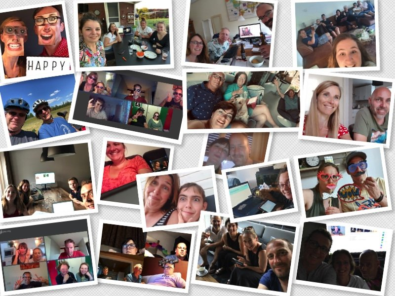 Online Pubquiz avond selfies