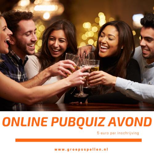 Online Pubquiz avond vanuit huis