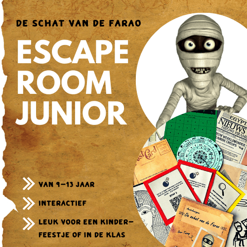 Egypte_Escape Room Junior vierkant