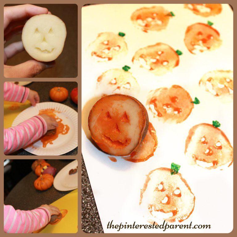 Halloween aardappel stempel