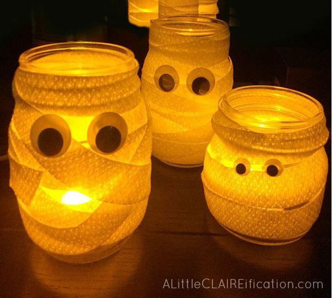 Mummie lichtpotjes klaar