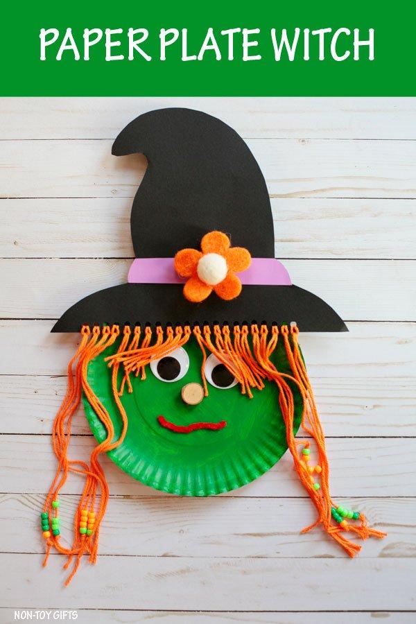 Halloween heks met hoed