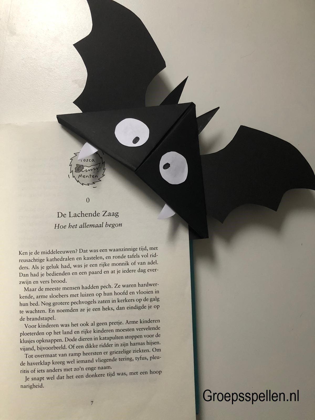 Halloween vleermuis boekenlegger