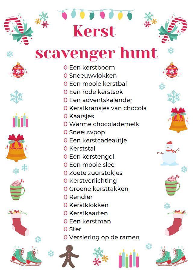 Kerst scavenger hunt