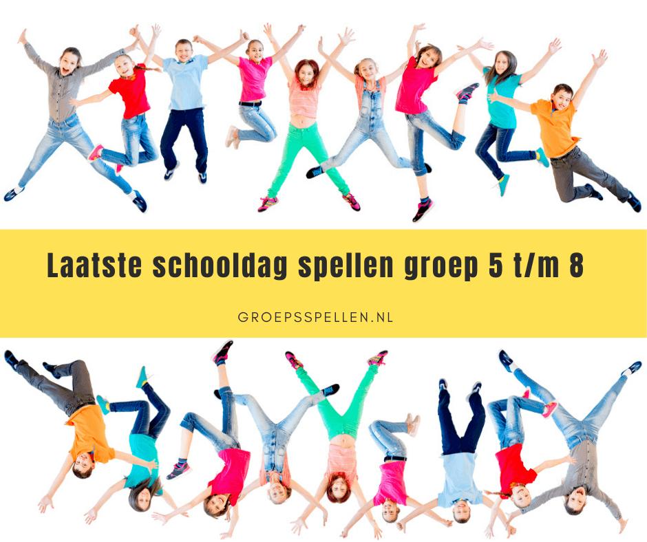 Laatste schooldag spellen groep 5 tot en met 8